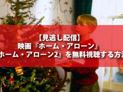 【見逃し配信】映画『ホーム・アローン』・『ホーム・アローン2』を無料視聴する方法