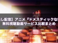 【見逃し配信】アニメ『ドメスティックな彼女』の無料視聴動画サービス比較まとめ