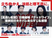 【見逃し配信】日曜劇場『グッドワイフ』最終回10話のネタバレあらすじ&感想