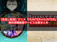 【見逃し配信】アニメ『HUNTER×HUNTER(ハンターハンター)』の無料視聴動画サービス比較まとめ