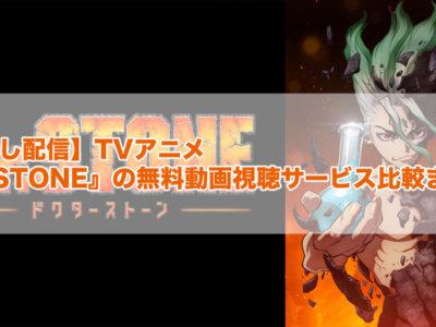 【見逃し配信】TVアニメ『Dr.STONE』の無料動画視聴サービス比較まとめ