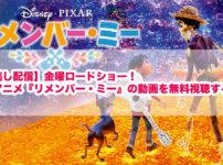 【見逃し配信】金曜ロードショー!映画アニメ『リメンバー・ミー』の動画を無料視聴する方法